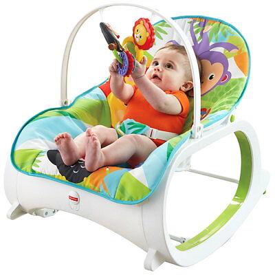 Fisher-Price Babyschaukel FMN39 Babywippe Vibration Lehne einstellbar grün Neu