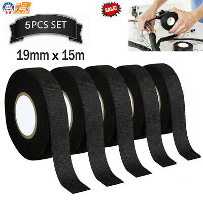 Tesa Cloth Tape Adhesive Looms Wire Harness 19mm15m Black For Car Auto 5 Rolls