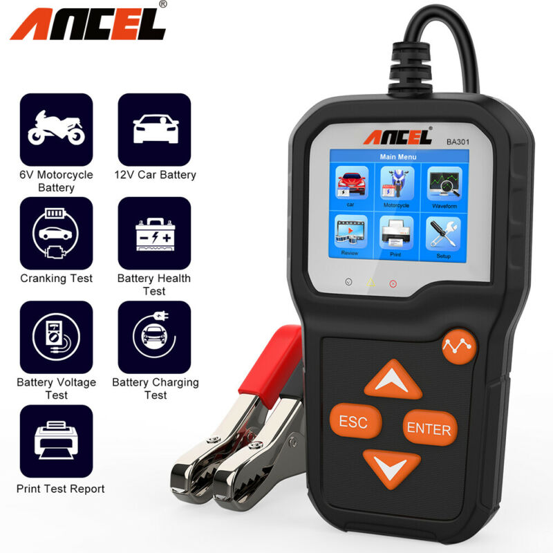 2020 6V 12V Car Battery Tester Analyzer Cranking Charging Circut Diagnostic Tool