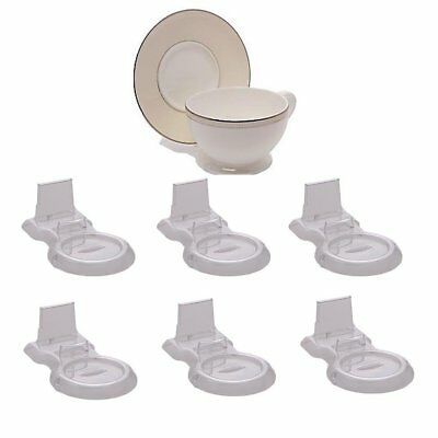 1 2 Dozen  6  Clear Tea Cup And Saucer Stand Holder Display Acrylic