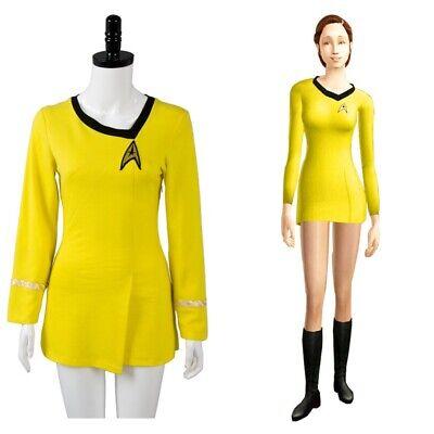 Clearance Star Trek Duty Uniform TOS Yellow Dress Halloween Cosplay Costume