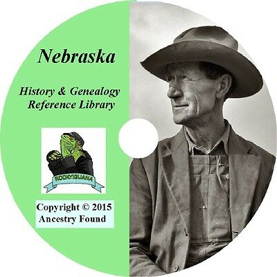 125 old books - NEBRASKA - History & Genealogy - Family Tree, Ancestry, County