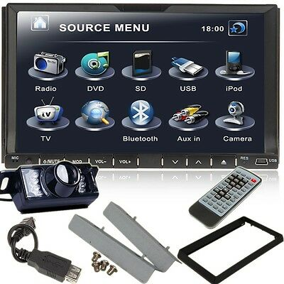 "HD 2Din 7"" Car DVD Player In-Dash Stereo Radio iPod TV Bluetooth USB SD+Camera on Rummage"