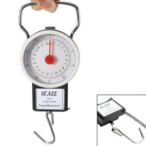 22kg portable fish hook hanging spring weight weighing for Fish weight scale