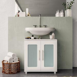 Waschtischunterschrank Unterschrank Bad Badschrank Waschbeckenunterschrank weiß