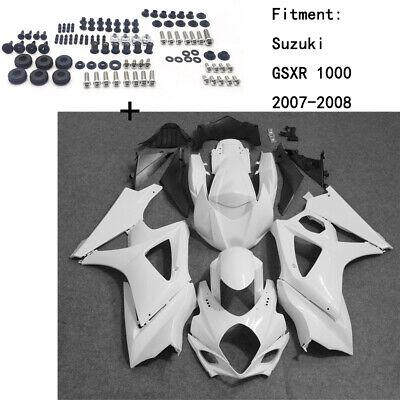 Unpainted ABS Body work Fairing Kit w/ screw For Suzuki GSXR 1000 2007-2008