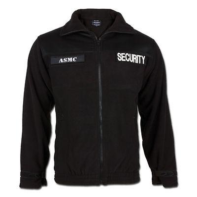 Mil-Tec Security Fleecejacke Jacke Oberbekleidung Sicherheitsdienst schwarz  Bekleidung Fleece Jacken