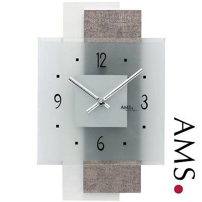 Ams 41 Cuarzo de Reloj Pared,Cocina Oficina Parte Posterior Madera para Salón