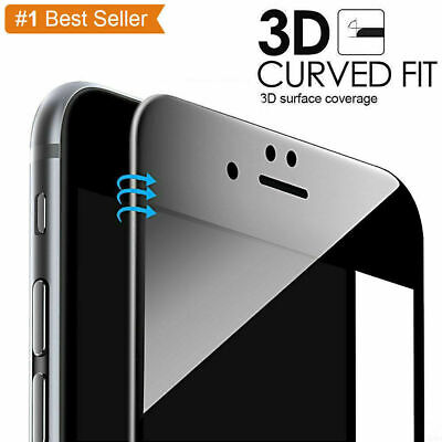 For iPhone 7 8  Full Cover Tempered Glass 3D Curved Screen Protector UK