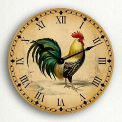 Rooster Traditional Kitchen Motif 12 Silent Wall Clock