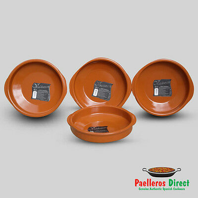 Set of 4 x 24cm Spanish Terracotta Tapas Dishes / Cazuelas