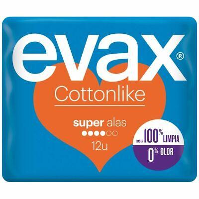 Compresas Cottonlike Super Alas 12 uds - Evax