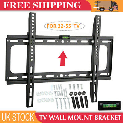 TV Wall Bracket Mount Slim LCD LED Plasma For 26 30 32 37 40 42 47 50 55 inch UK