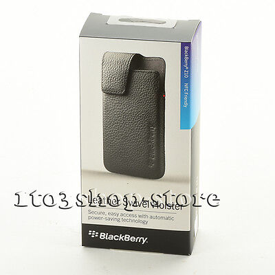 BlackBerry Leather Swivel Holster Case Cover w/Clip for BlackBerry Z10 Black NEW, used for sale  Shipping to South Africa