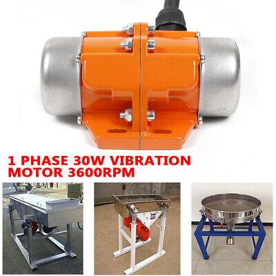 30w Ac110v Asynchronous Vibration Motor Single Phase Shake Motor 50hz 3600rpm Us