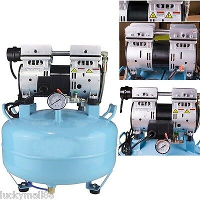 Fast Medical Noiseless Oil Oilless Air Compressor 30l 550w 130lmin Dental Chair