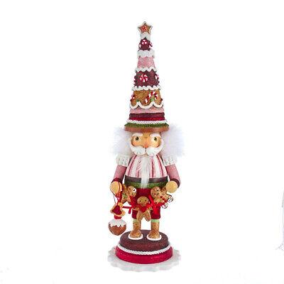 [Kurt Adler Hollywood Nutcracker - Gingerbread Tree Hat Christmas Nutcracker NEW </Title]