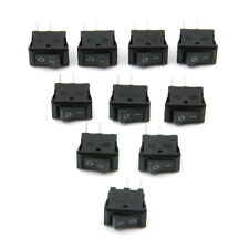 Lots 10 Pcs SPST ON/OFF Switch Mini Black 2 Pin Rocker Switch DC 12V 16A 10x15mm