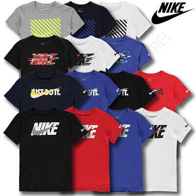 Boys Nike T Shirts Tops Short Sleeve Kids Tee Junior Age 8 9 10 11 12 13 14 Yrs