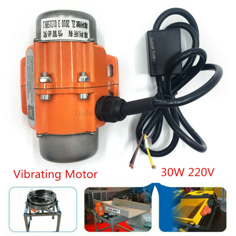 AC220V Single 1phase 30W Cast Vibrating Vibrator Asynchronous Motor 3000/3600rpm
