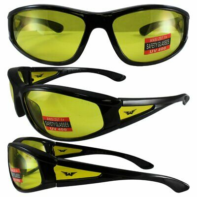 Integrity 2 Yellow Lens Safety Glasses Motorcycle Shooting Z87