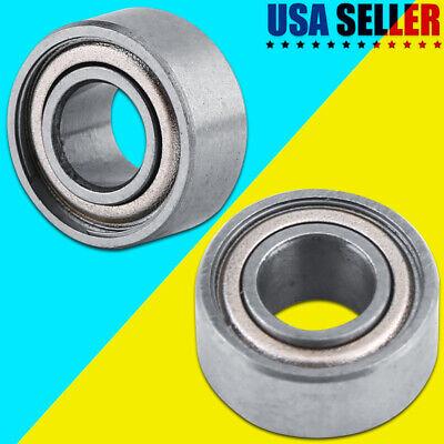 10pcs 5 X 11 X 5 Mm Mini Metal Double Shielded Flanged Deep Groove Ball Bearings