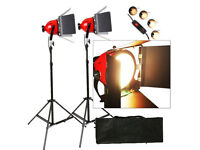 2 Red Head Lights 800W Dimmable With Bag Studio / Video / Photography Lighting Kit Dimmer