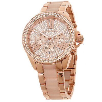 Michael Kors MK6096 Wren Crystal Rose Gold Stainless Steel Analogue Damenuhr