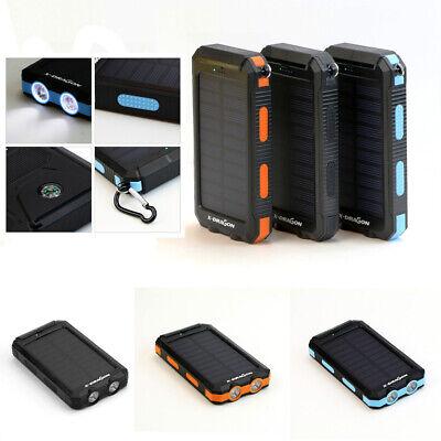 Power Bank Solar 10000-300000mAH Waterproof LED External Backup Battery Charger