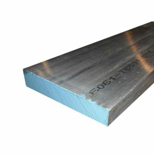 "2 pieces 3/8"" x 3"" 6061 Aluminum Extruded bar plate 6"" long (.38"" x 3"")"