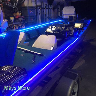 Wireless Blue Led Strip Kit For Boat Marine Deck Interior Lighting 16 Ft