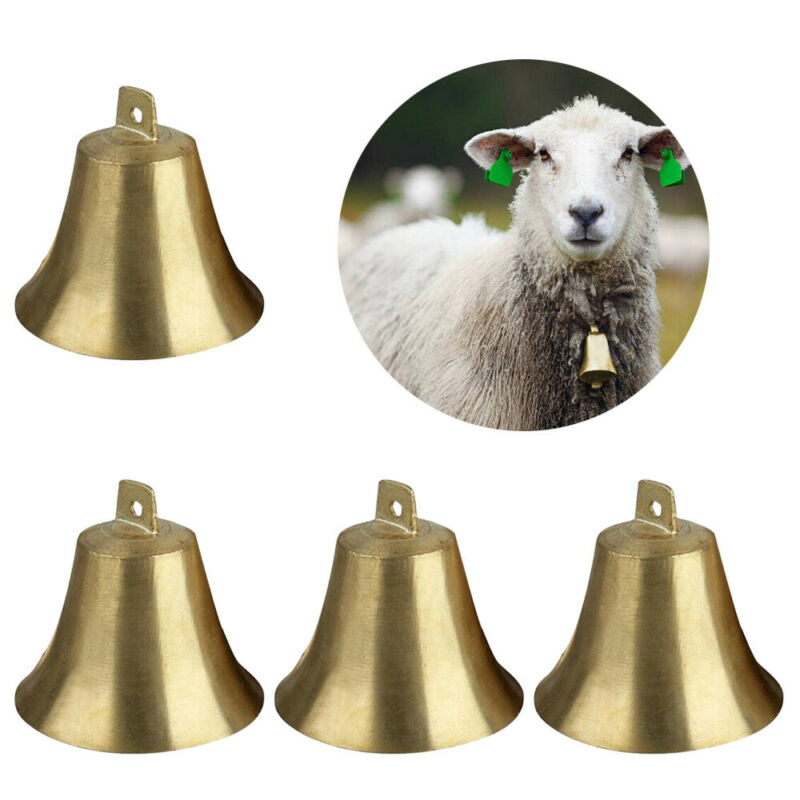 4X Brass Copper Bells Cow Horse Sheep Dog Animal Grazing Super Loud Farm  EBS