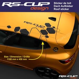 2 stickers Poc Mon RS Megane Clio Renault Sport GTI OPC RS  40x200mm chacun