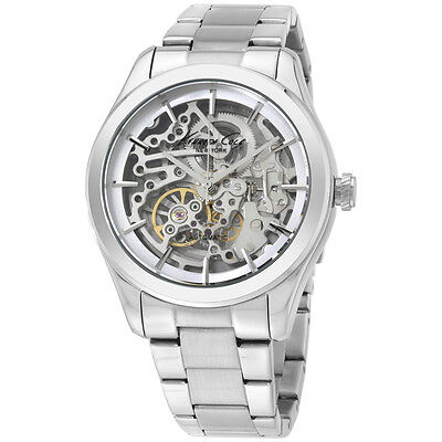 Kenneth Cole Silver Skeleton Dial Stainless Steel Men's Watch 10025560