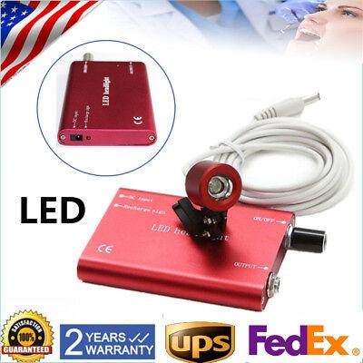 Clip Type Led Headlight Lamp Battery For Dental Binocular Optical Loupes Red New