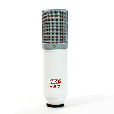 MXL V67G Custom Condenser Vocal Studio Microphone Limited Edition White/Red