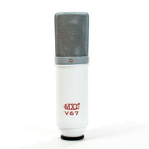 MXL V67G Custom Condenser Vocal Studio Microphone Limited Edition White/Red