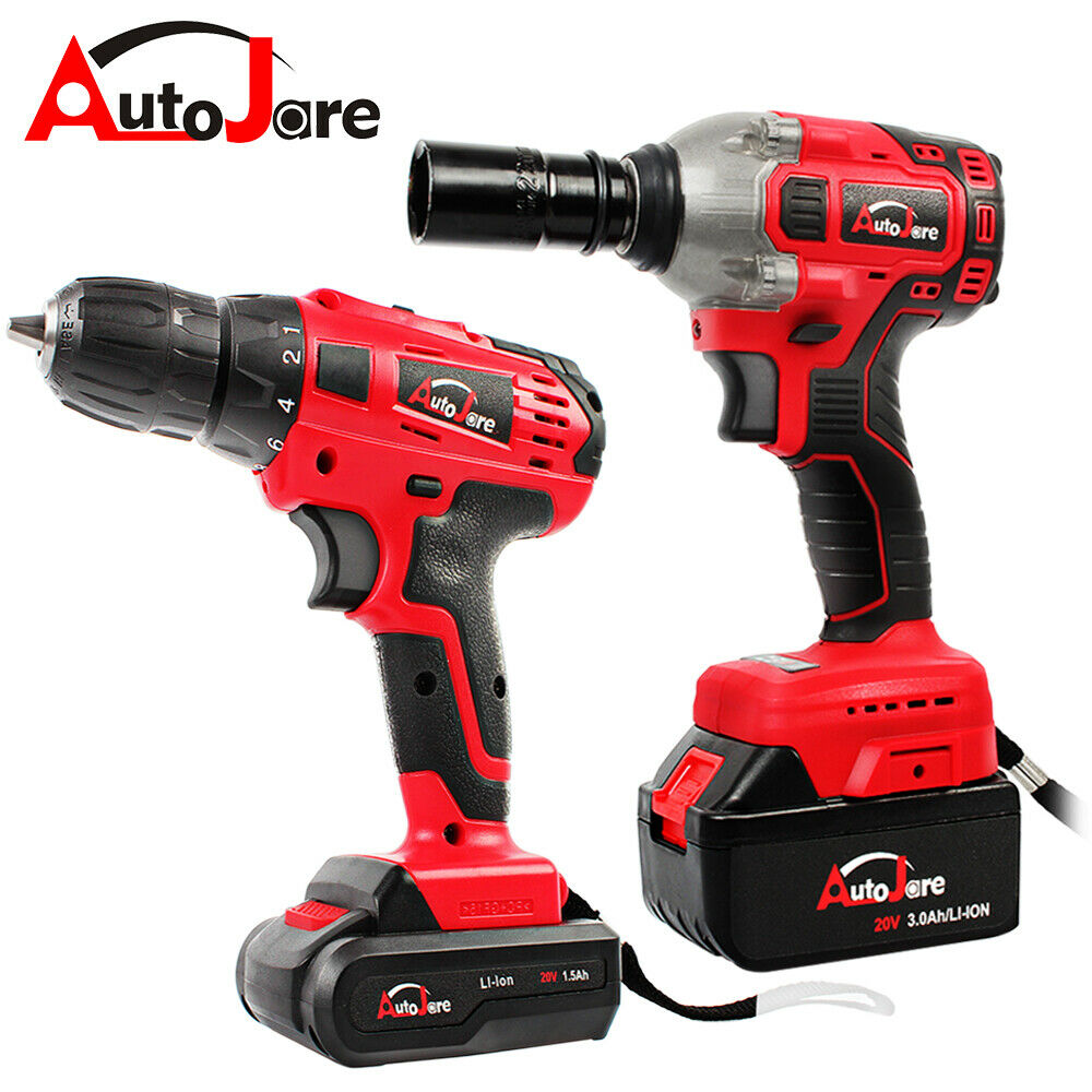 20V max Cordless Drill/Impact Wrench Brushless 1/2'' Rattle
