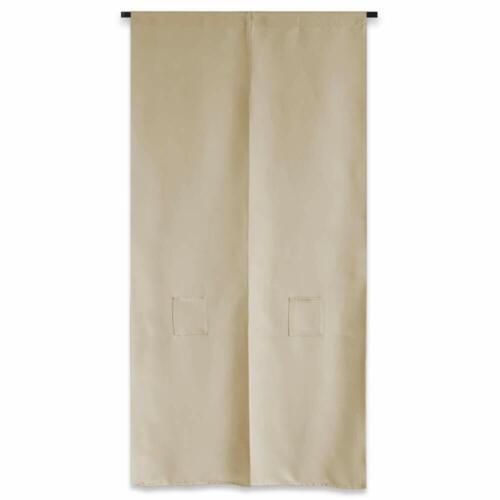 JAPANESE Noren Curtain Long Size Beige 85 x 170cm