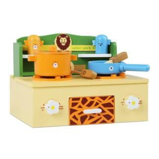 Wooden Safari Theme Portable Mini Stove Top
