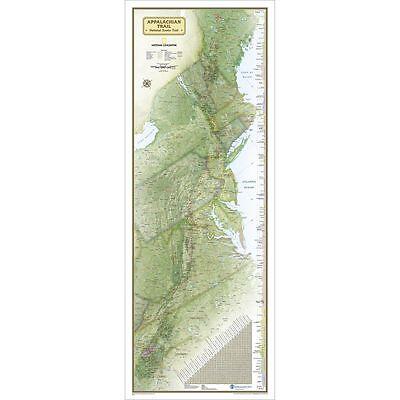 DEFECT Nat Geo Appalachian Trail Wall Map 18