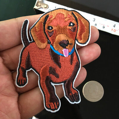Used, Dachshund Dog Patch Breed Embroidered Pet Animal Iron on Applique Sewing DIY for sale  Shipping to United States