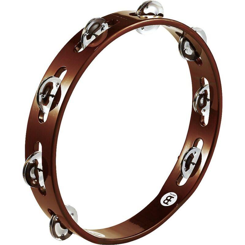 Meinl Wood Tambourine One Row Steel Jingles