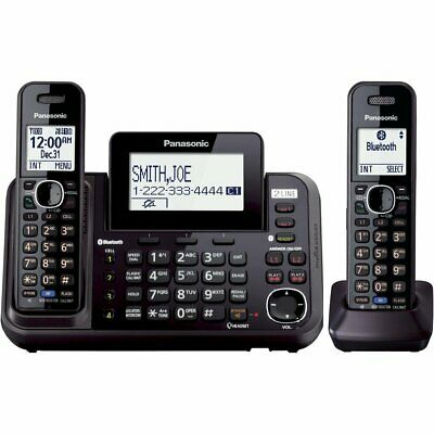 Panasonic DECT 6.0 Link2Cell 2-Line Bluetooth Cordless Phone System (2 Handsets) 2 Line Cordless Phone
