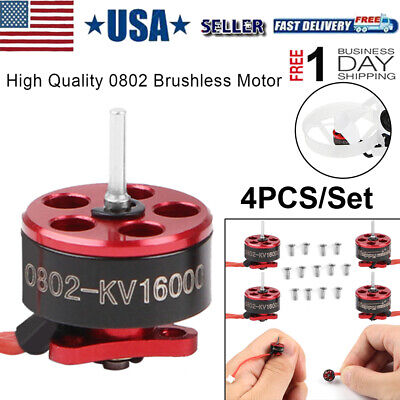 4pcs SE0802 16000KV Brushless Motors 1-2S for Micro FPV Racing Drone Mobula7