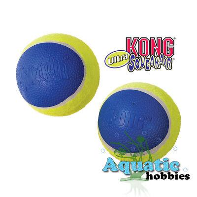 Kong Ultra Squeak Air Tennis Ball For Dog Puppy Toy Squeaker Choose Size Air Squeaker Tennis Ball