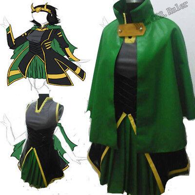 Womens Loki Costume (Thor The Avengers Women's Loki Full Set Cosplay)