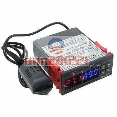 1pcs Stc-3028 Ac110-220v Dual Digital Temperature Humidity Controller Thermostat