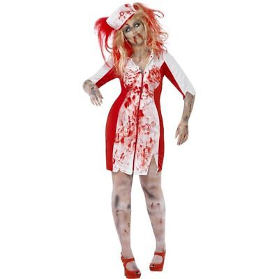 Smi - Halloween Damen Kostüm Zombie - Halloween Krankenschwester Kostüm