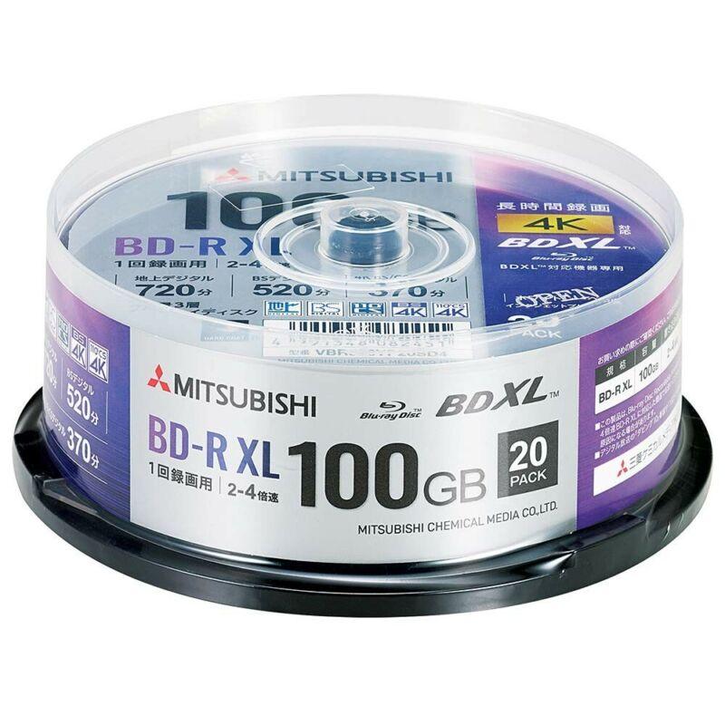 Verbatim Blu-ray Disc BD-R 20 Spindle XL 100GB 4x Speed Printable VBR520YP20SD4
